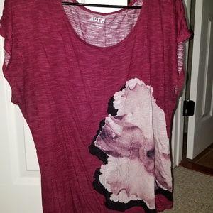 Apt 9 xl sheer flower shirt
